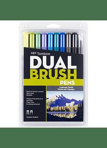 Tombow Dual Brush - Set 10 Marcadores; Colores Paisaje
