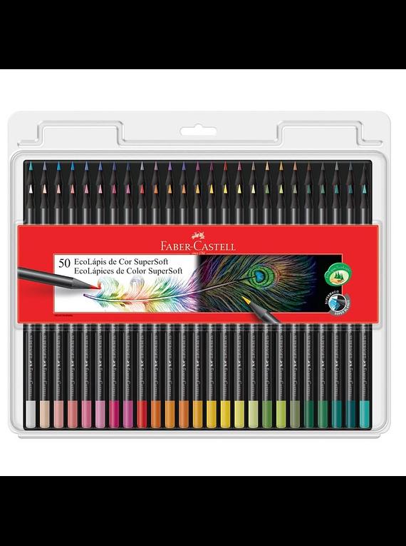 Faber-Castell SuperSoft - Set 50 Lápices de Colores