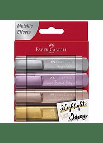 Faber-Castell Metallic - Set 4 Destacadores Metálicos