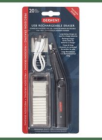 Derwent - Goma Eléctrica Recargable USB con Repuestos