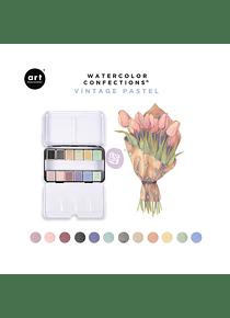Art Philosophy Watercolor Confections - Set 12 Acuarelas Vintage Pastel
