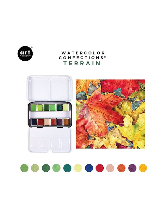 Art Philosophy Watercolor Confections - Set 12 Acuarelas Terrain