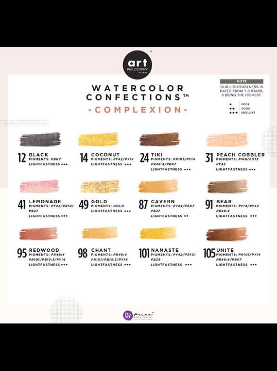 Art Philosophy Watercolor Confections - Set 12 Acuarelas Complexion