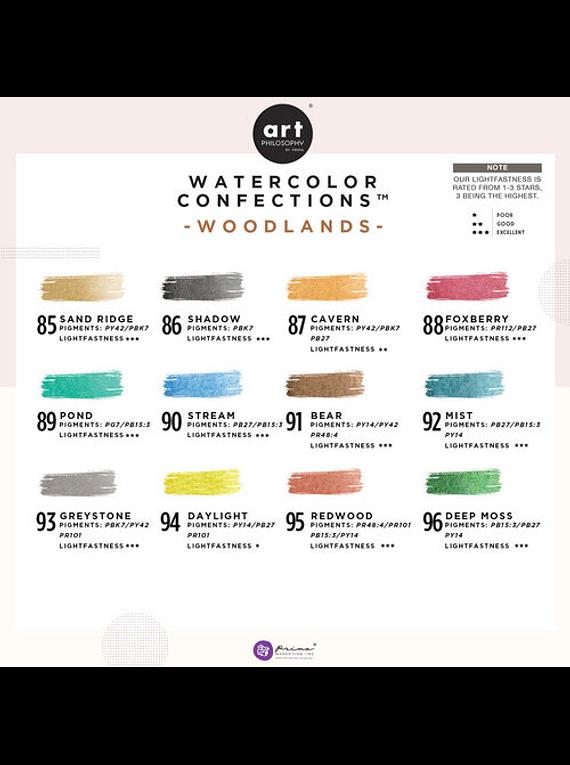 Art Philosophy Watercolor Confections - Set 12 Acuarelas Woodlands