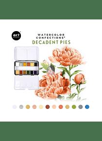 Art Philosophy Watercolor Confections - Set 12 Acuarelas Decadent Pies