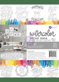 Prima - Libro para Colorear Watercolor Décor Book Vol 2