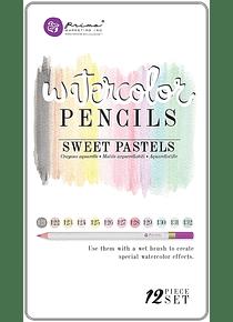 Prima - Set 12 Lápices de Colores Acuarelables Sweet Pastels