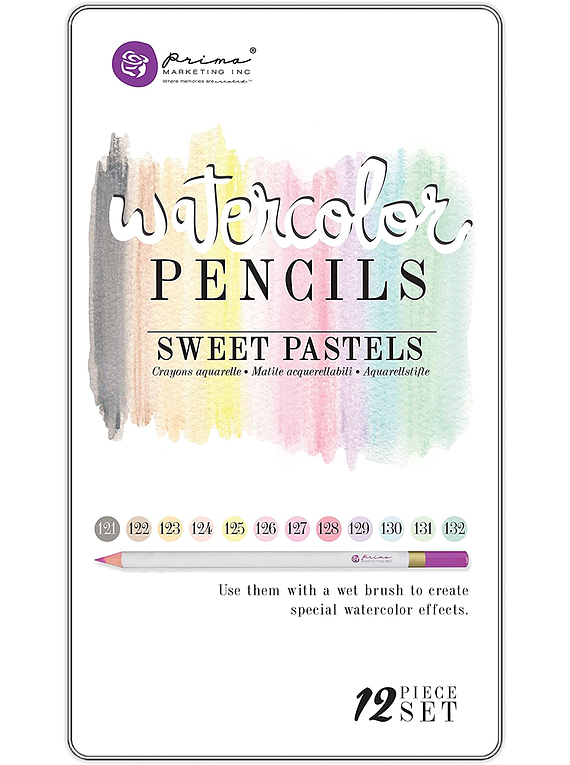 Prima - Set 12 Lápices de Colores Acuarelables Sweet Pastels