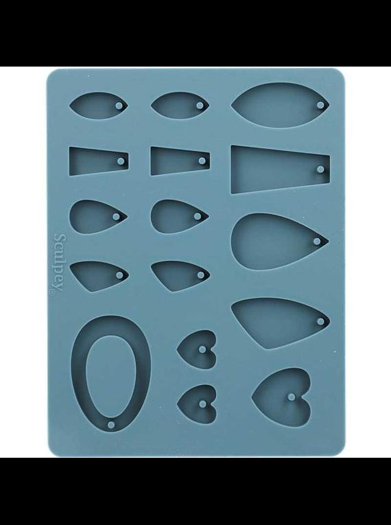 Sculpey - Molde para Arcilla Horneable de Silicona; Joyería
