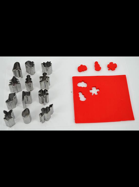 Sculpey Premo! - Set 12 Herramientas Mini Cortadores de Metal; Festivos