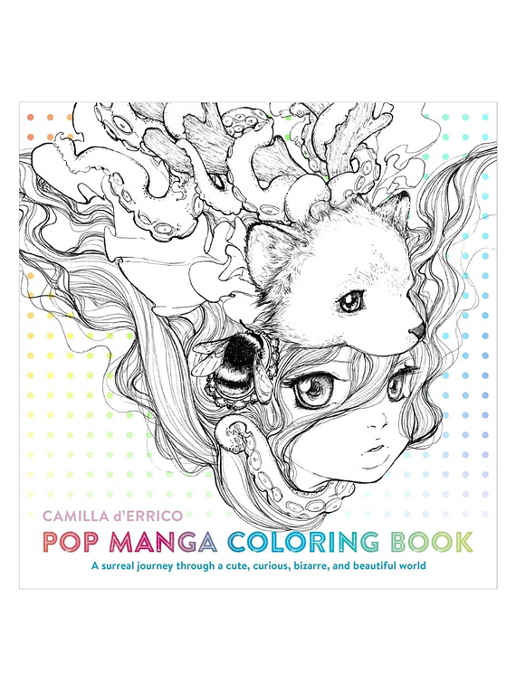 Pop Manga Coloring Book - Camilla d'Errico