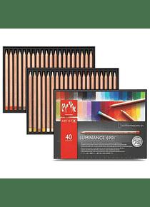 Caran d'Ache Luminance - Set 40 Lápices de Colores