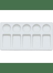 Ami - Paleta Mezcladora de Porcelana con 10 espacios Rectangular