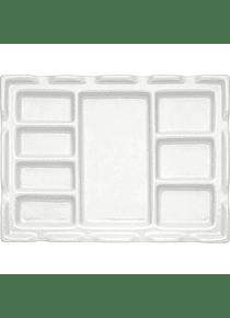 Ami - Paleta Mezcladora de Porcelana con 8 espacios Rectangular