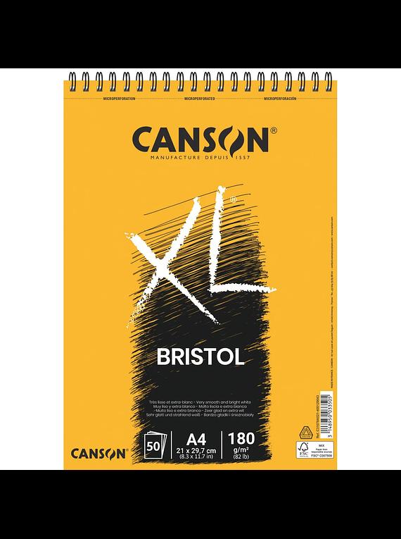 Canson XL - Croquera Bristol, A4 21 x 29,7 cm, 50 Hojas, 180 g/m2