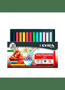 Lyra Polycrayons - Set 12 Pasteles Blandos