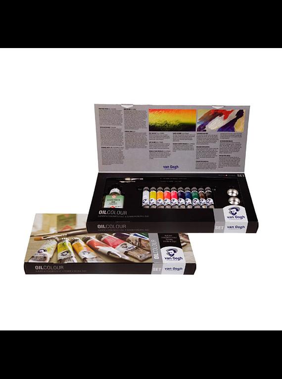 Van Gogh Oil Colour - Kit Óleos 10 Tubos de 20 ml y Accesorios