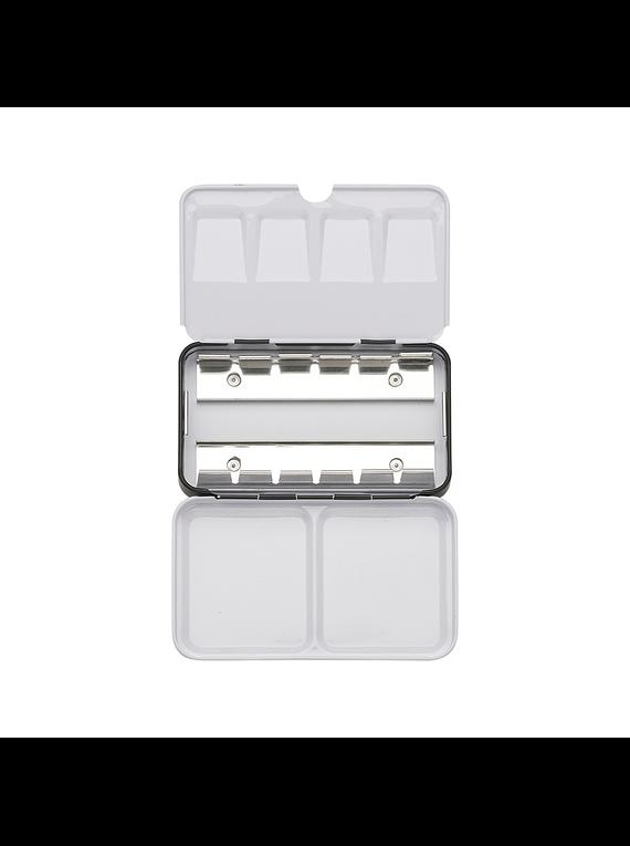 Ami - Caja Metálica Vacía para Acuarelas en Pastilla 12 espacios