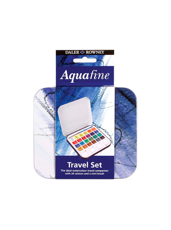 Daler Rowney Aquafine - Set 24 Acuarelas Travel