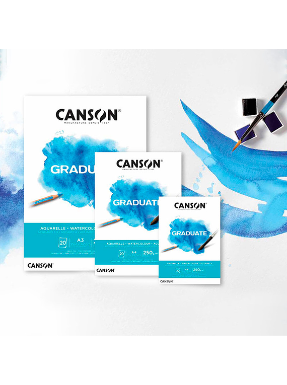 Canson Graduate - Block Acuarela 20 Hojas, 250 g/m2