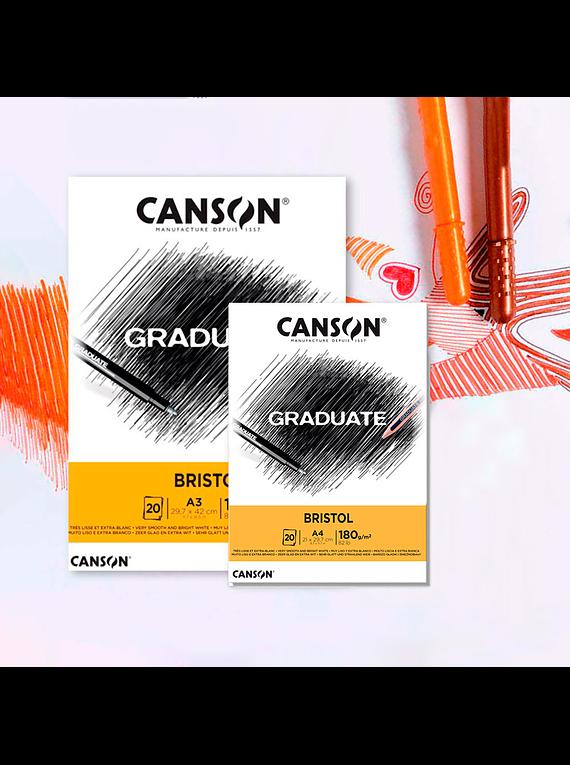 Canson Graduate - Block Bristol 20 Hojas, 180 g/m2