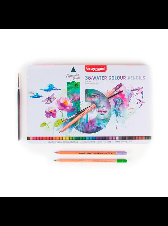 Bruynzeel Expression - Set 36 Lápices de Colores Acuarelables