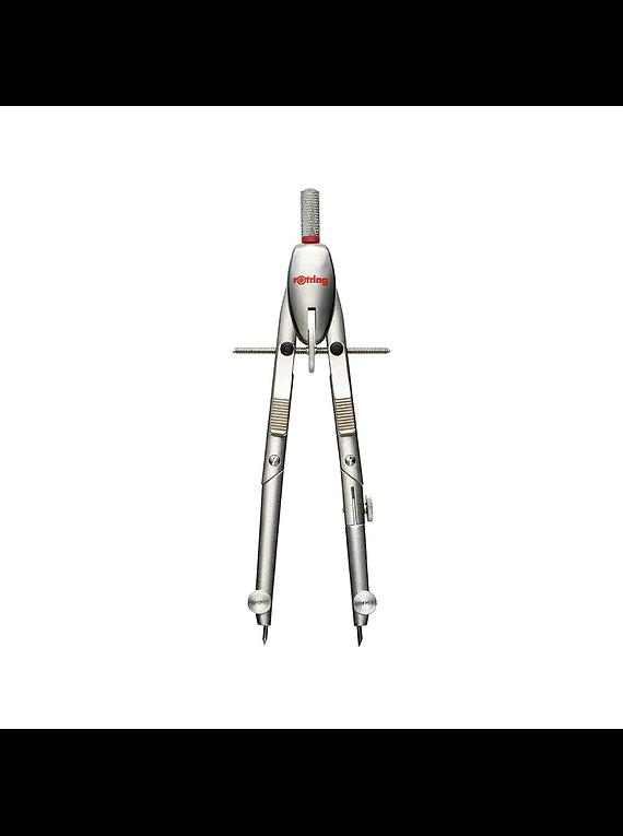 Rotring - Compás de Precisión Silver Edition sin Barra de Extensión