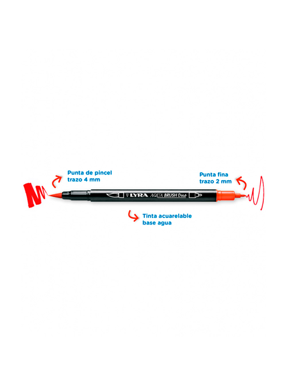 Lyra Aqua Brush Duo - Marcador Doble Punta Individual