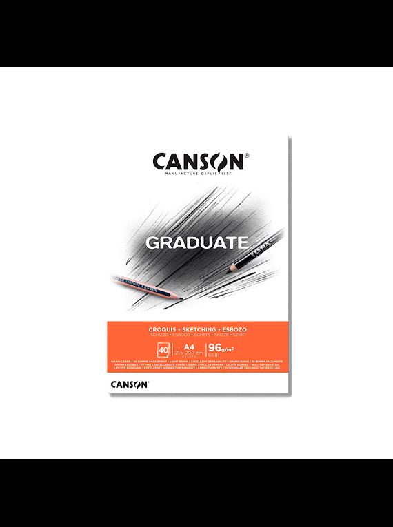 Canson Graduate - Block Croquis 40 Hojas, 96 g/m2