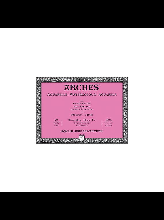 Arches - Block Acuarela Grano Satinado 300 g/m2 20 h