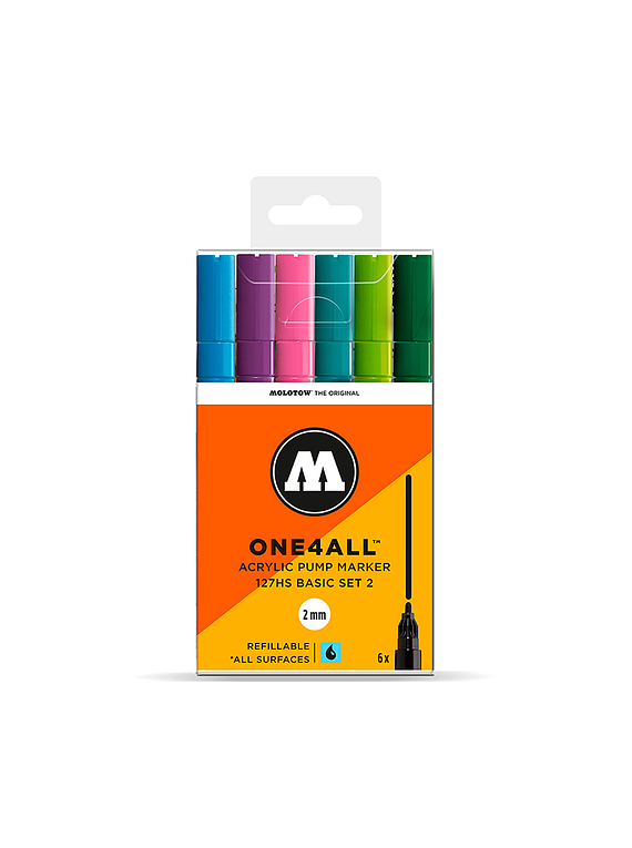 Molotow One4All - Set 6 Marcadores 127HS 2 mm Basic 2