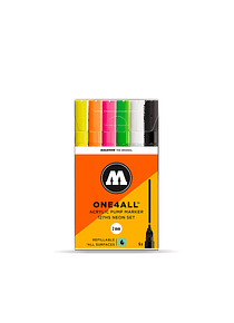 Molotow One4All - Set 6 Marcadores 127HS 2 mm Neon