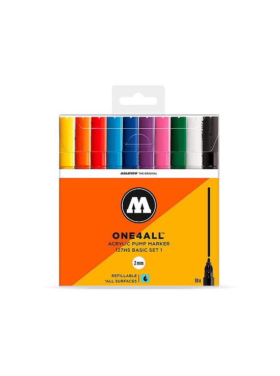 Molotow One4All - Set 10 Marcadores 127HS 2 mm Basic 1