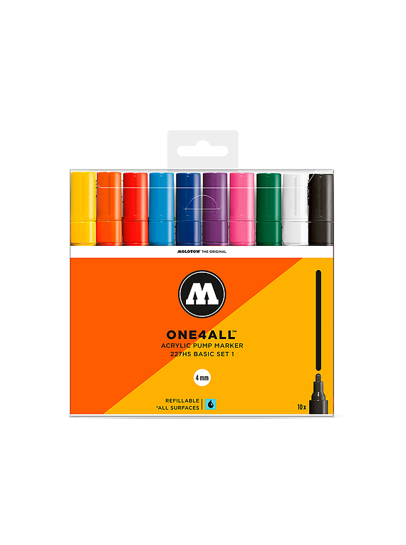 Molotow One4All - Set 10 Marcadores 227HS 4 mm Basic 1