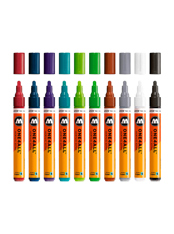 Molotow One4All - Set 10 Marcadores 227HS 4 mm Basic 2