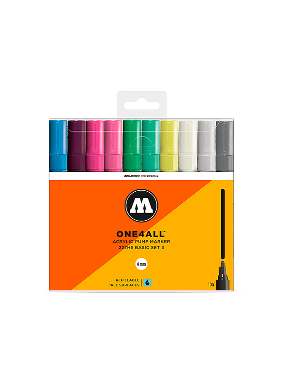 Molotow One4All - Set 10 Marcadores 227HS 4 mm Basic 3