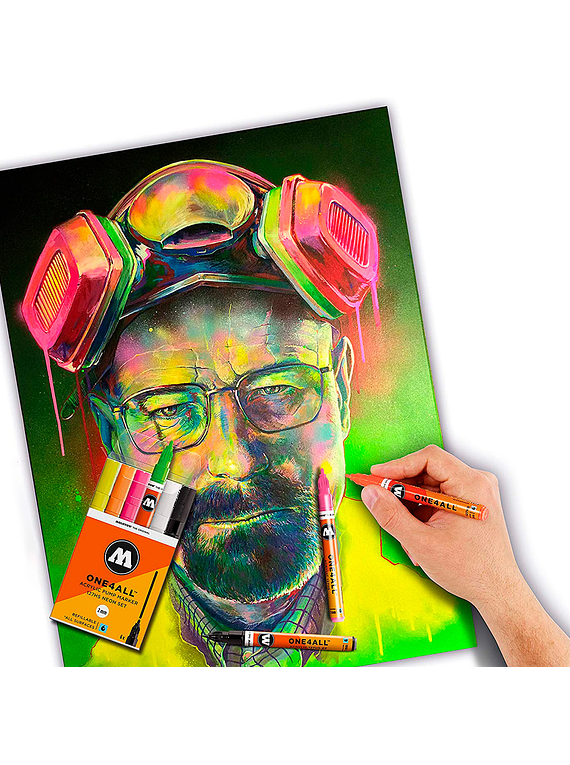 Molotow One4All - Set 10 Marcadores 227HS 4 mm Pastel