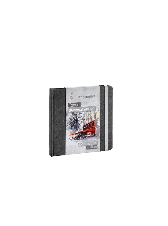 Hahnemühle Toned Watercolour Book - Sketchbook papel Gris