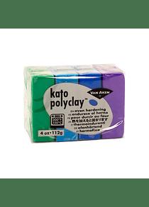 Van Aken Kato PolyClay - Set 4 Arcilla Polimérica 112 g (4 Oz) Cool