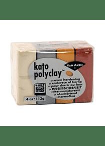 Van Aken Kato PolyClay - Set 4 Arcilla Polimérica 112 g (4 Oz) Metallic