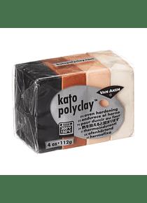 Van Aken Kato PolyClay - Set 4 Arcilla Polimérica 112 g (4 Oz) Neutral