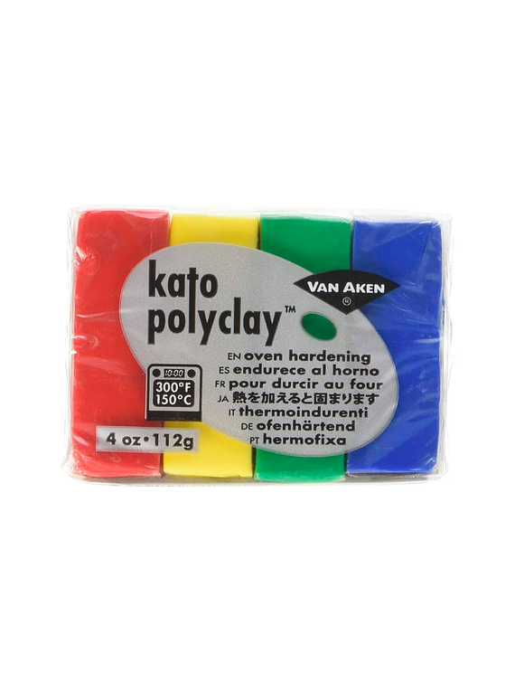 Van Aken Kato PolyClay - Set 4 Arcilla Polimérica 112 g (4 Oz) Primary