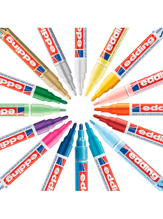 Edding 750 - Set 3 Marcadores de Pintura (2-4 mm) Metalizados