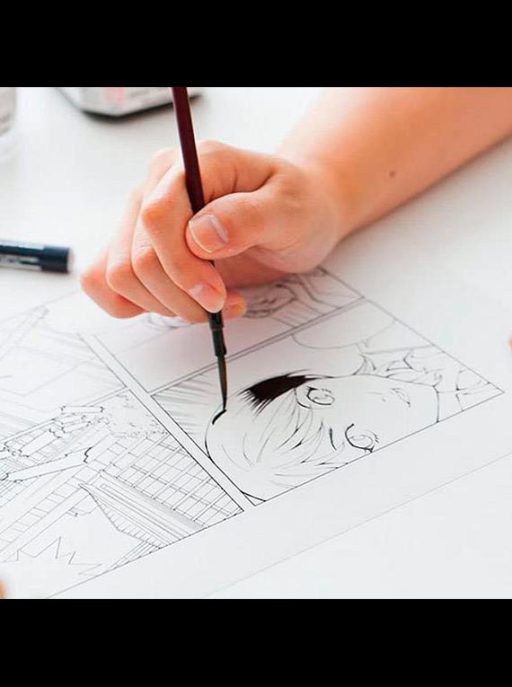 Kuretake Zig Cartoonist - Tinta Sumi Ink 180 Negra (180 ml)