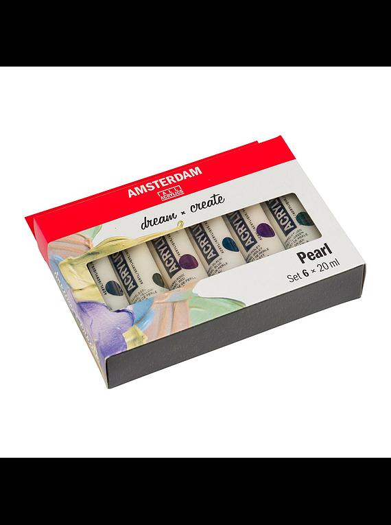 Amsterdam Standard Series - Set 6 Acrílicos 20 ml Colores Perlados