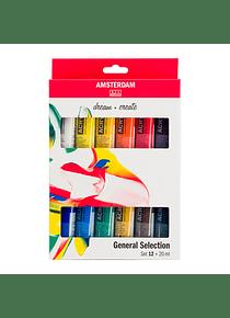 Amsterdam Standard Series - Set 12 Acrílicos 20 ml Selección General