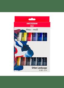 Amsterdam Standard Series - Set 12 Acrílicos 20 ml Paisaje Urbano