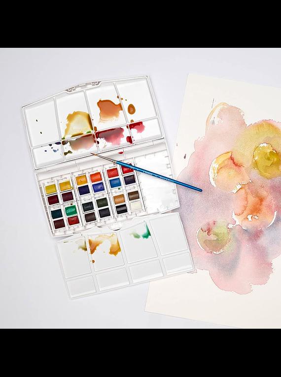 Winsor & Newton Cotman - Set 24 Acuarelas Painting Plus