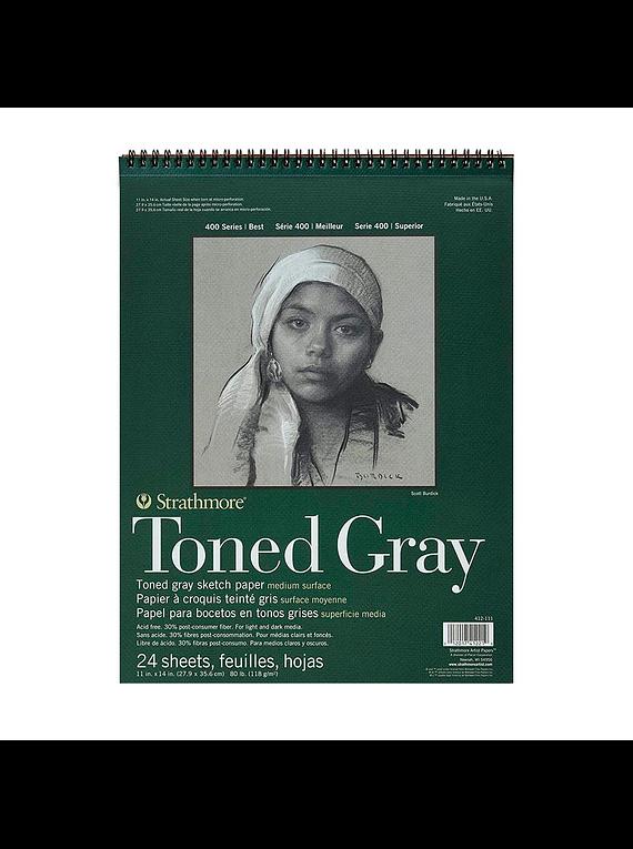 Strathmore Toned Gray - Croquera 27,9 x 35,6 cm 118 g/m2 24 hojas