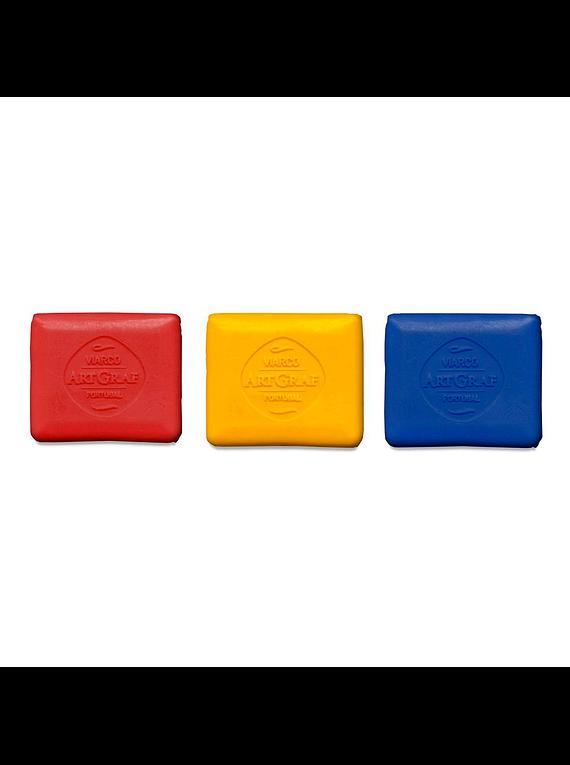 Viarco ArtGraf - Set 3 Pastillas Grafito Acuarelable Tailor Shape Primary Colors